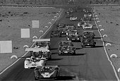 Stardust Grand Prix CanAm Las Vegas The racing field drives down a straightaway