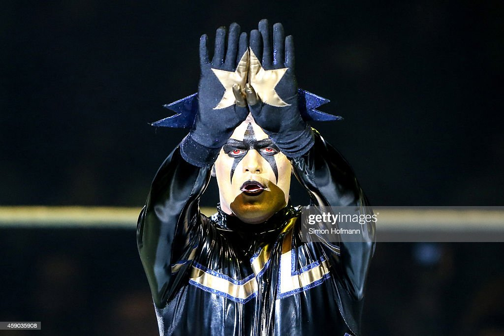 Stardust reacts during WWE Live 2014 at Festhalle on November 15 2014 in Frankfurt am Main Germany