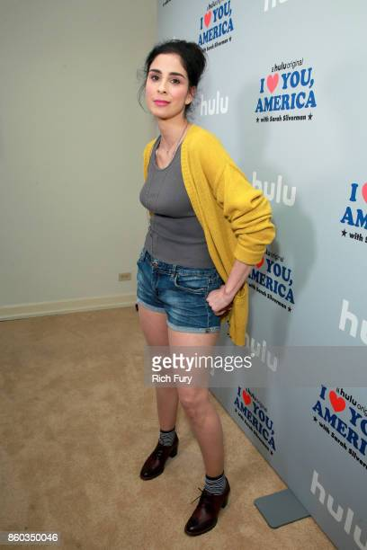 Star/Executive Producer Sarah Silverman attends the 'I Love You America' Premiere Party at Chateau Marmont on October 11 2017 in Los Angeles...