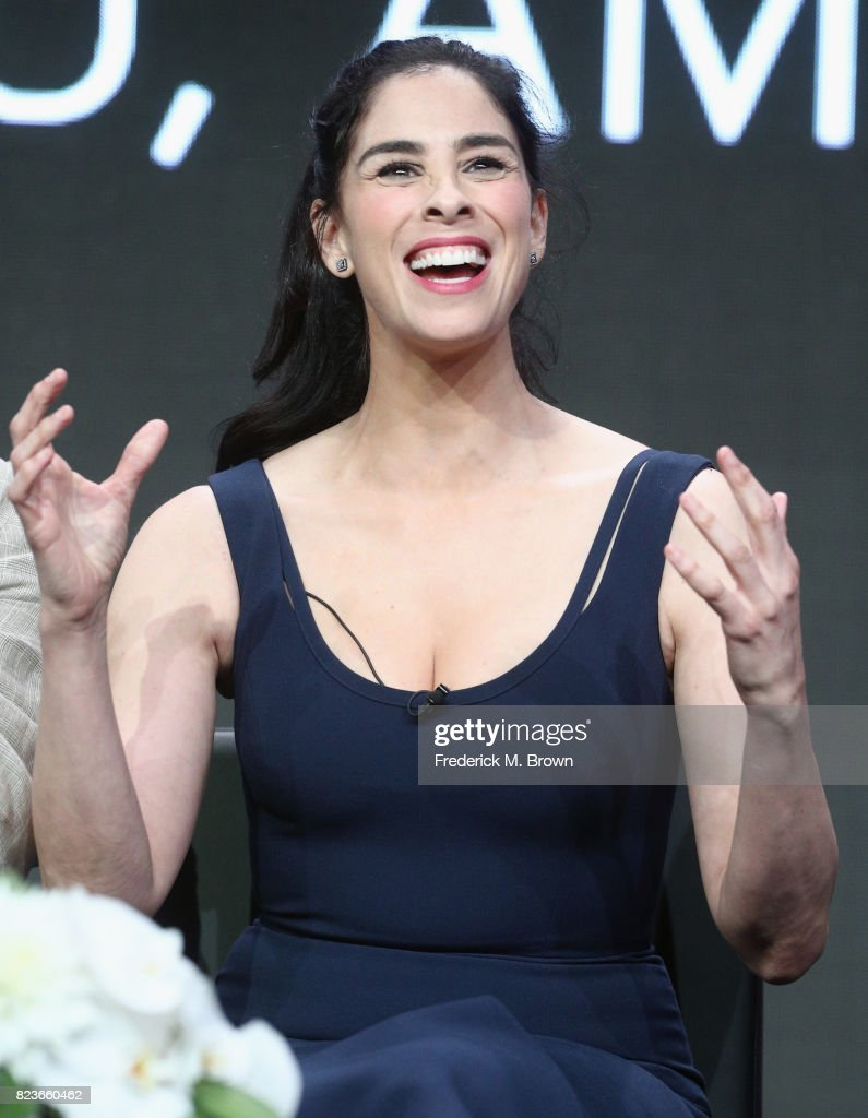 Star/executive producer Sarah Silverman of 'I Love You, America' speaks onstage during the Hulu portion of the 2017 Summer Television Critics Association Press Tour at The Beverly Hilton Hotel on July 27, 2017 in Beverly Hills, California.