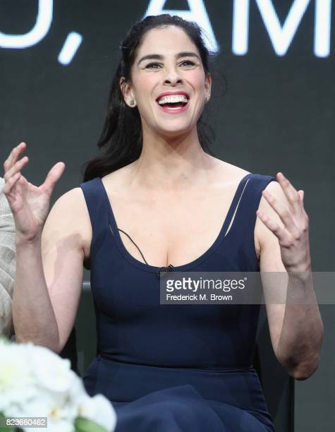Star/executive producer Sarah Silverman of 'I Love You America' speaks onstage during the Hulu portion of the 2017 Summer Television Critics...