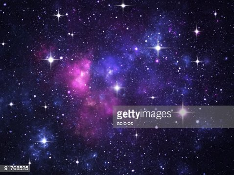 Starfield with flares