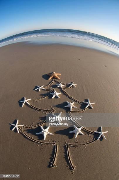 Ornements d'arbre de Noël Étoile de mer sur la plage
