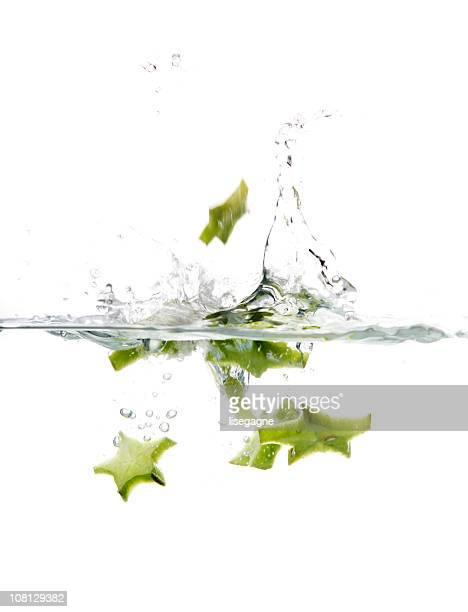 Starfruit Splashing in Water