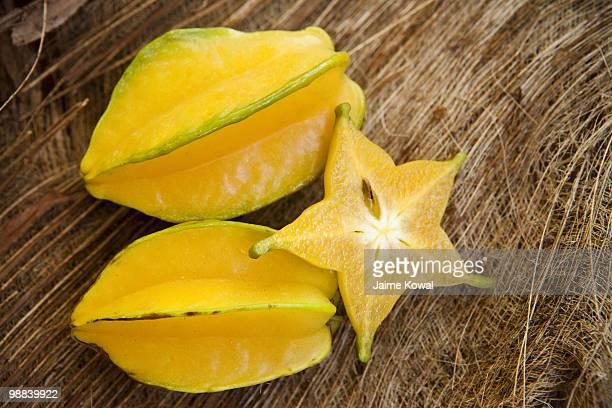 Starfruit still life with organic background