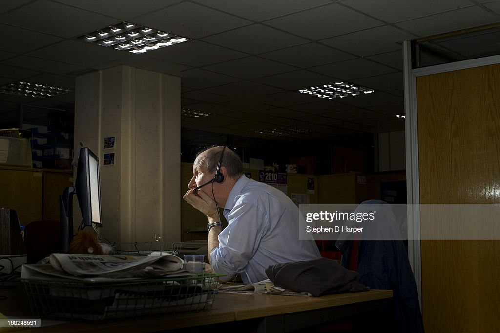 Staring at the computer screen : Stock Photo
