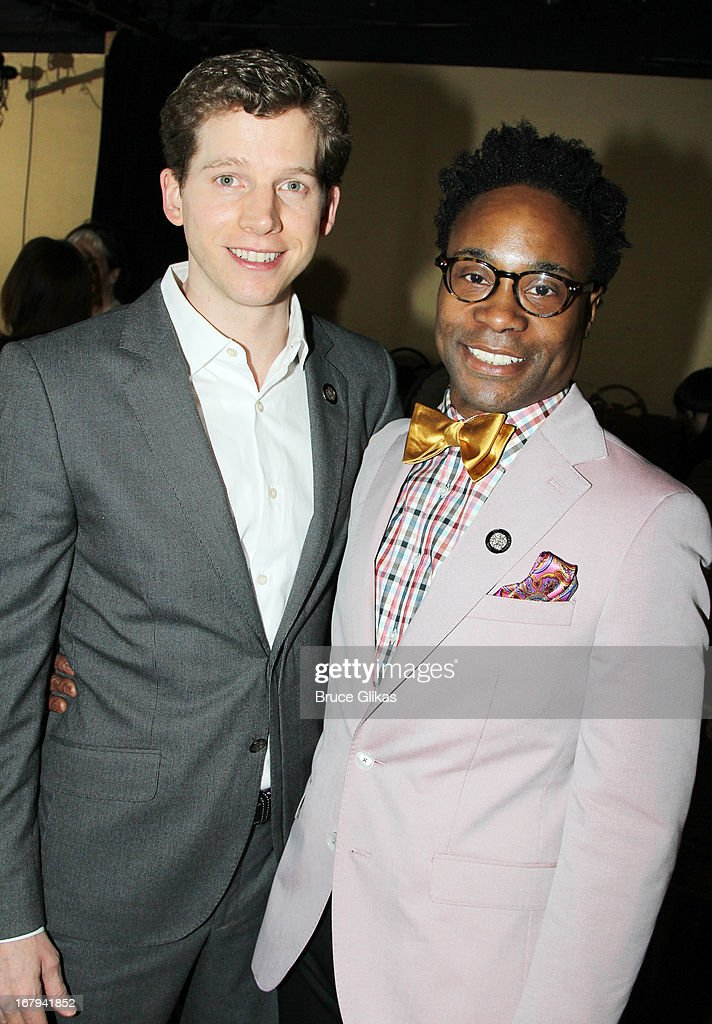 Stark Sands and Billy Porter attend the 2013 Tony Awards: The Meet The Nominees Press Junket at the Millenium Hilton on May 1, 2013 in New York City.