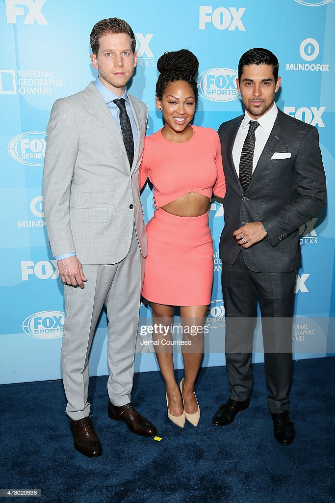Stark Sands, Meagan Good and Wilmer Valderrama attend the 2015 FOX programming presentation at Wollman Rink in Central Park on May 11, 2015 in New York City.