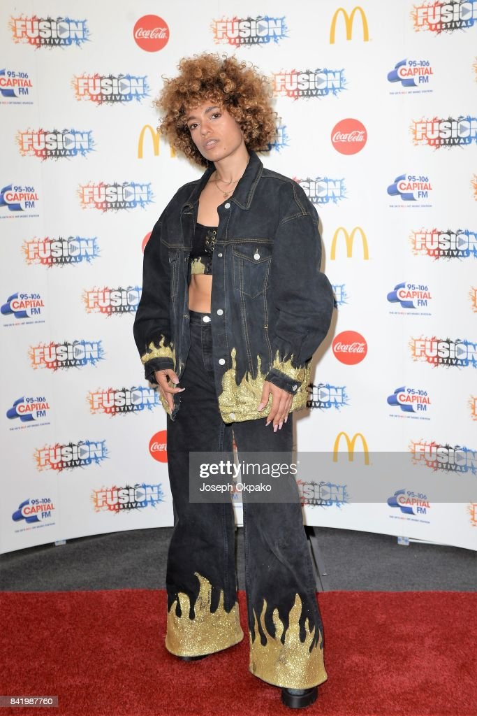 Starley poses backstage at Fusion Festival on September 2, 2017 in Liverpool, England.