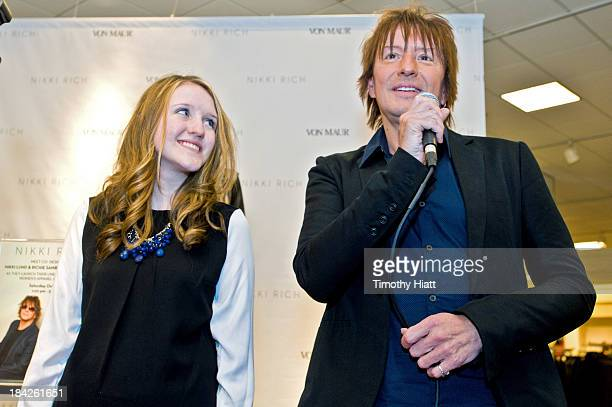 Starlight Foundation representative Emily Muller and Richie Sambora attend the Nikki Rich Launch With CoDesigners Lund And Sambora at Von Maur on...