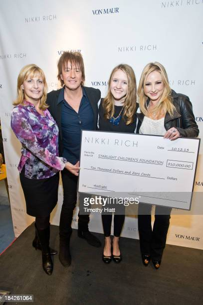 Starlight Foundation representative Joan Steltmann Richie Sambora Starlight Foundation representative Emily Muller and Nikki Lund are on hand as...