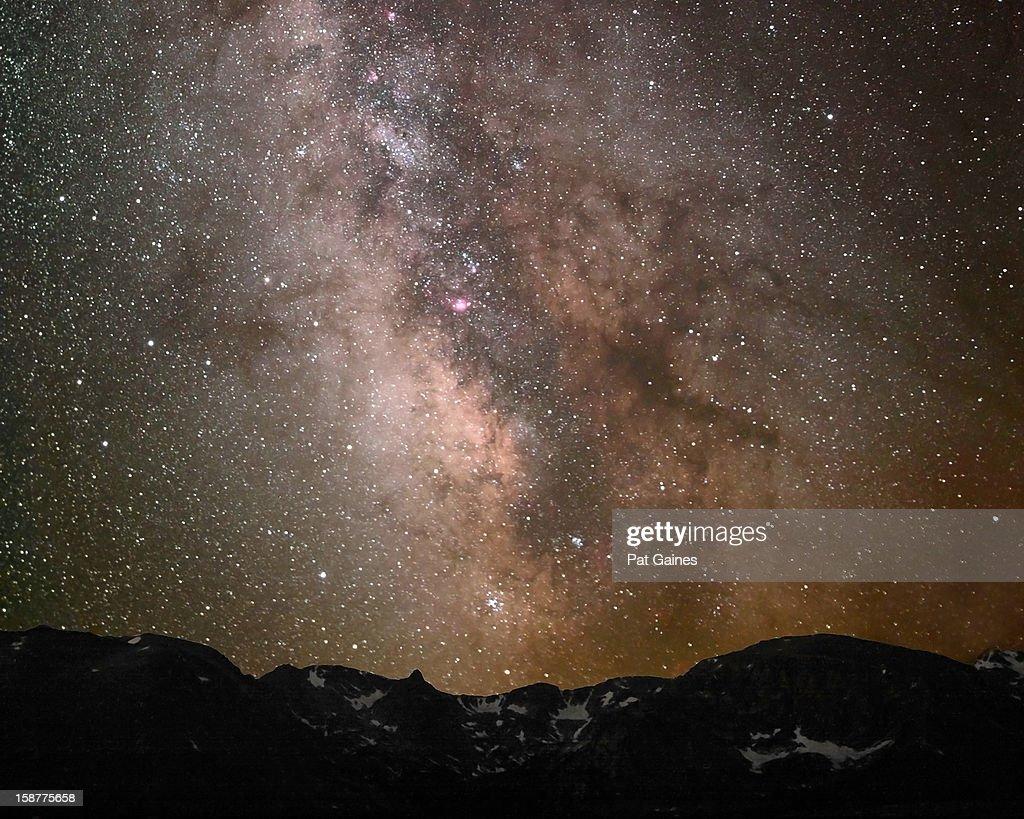 Starlight Over the Rockies : Stock Photo