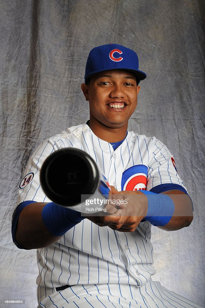Starlin Castro #13 of the Chicago Cubs poses for a portrait during Photo Day on March 2, 2015 at Sloan Park in Mesa, Arizona.