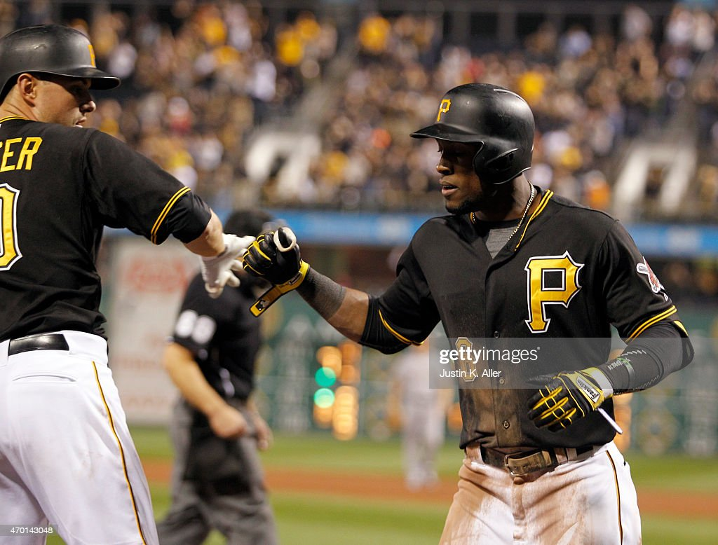 Starling marte photos photos cincinnati reds v pittsburgh pirates - Starling Marte 6 Of The Pittsburgh Pirates Celebrates After Hitting A Two Run Home Run