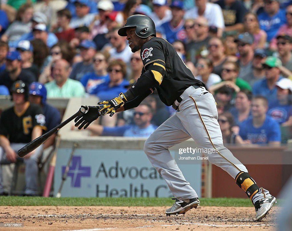 Starling marte photos photos cincinnati reds v pittsburgh pirates - Starling Marte 6 Of The Pittsburgh Pirates Hits A Run Scoring Double In The