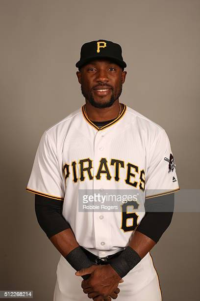 Starling Marte of the Pittsburgh Pirates poses during Photo Day on Thursday February 25 2016 at McKechnie Field in Bradenton Florida