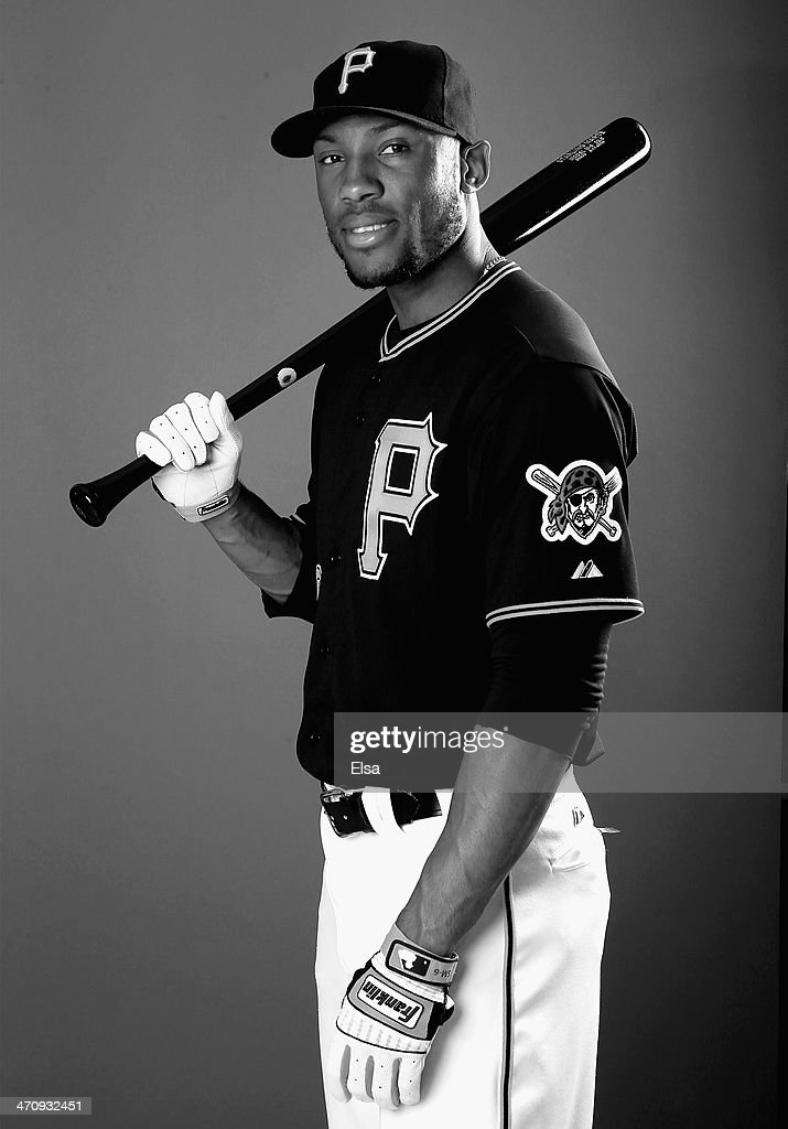 Starling Marte #6 of the Pittsburgh Pirates poses for a portrait during the Pittsburgh Pirates Photo day on February 21, 2014 at Pirate City in Bradenton, Florida.