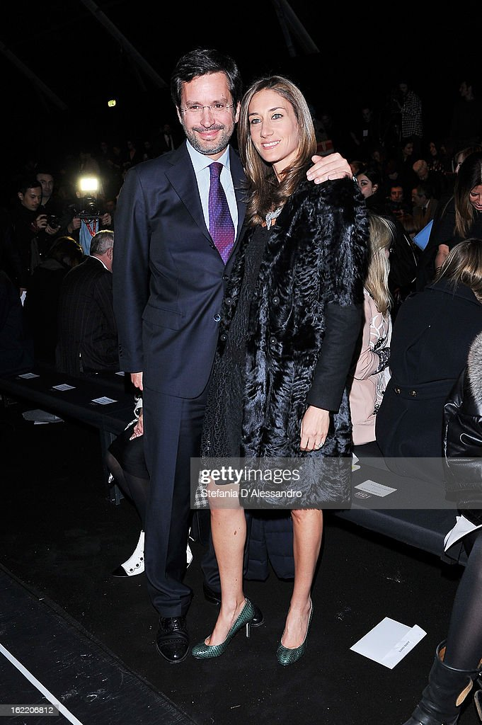 Starlite Randall and guest attend the Alberta Ferretti fashion show during Milan Fashion Week Womenswear Fall/Winter 2013/14 on February 20, 2013 in Milan, Italy.