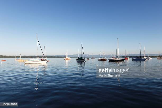 Starnberger See or Lake Starnberg, Tutzing, Fuenfseenland or Five Lakes region, Upper Bavaria, Bavaria, Germany, Europe