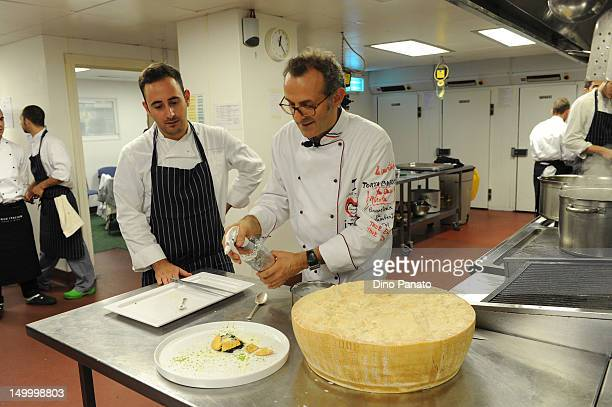 Starred chef Massimo Bottura attends Casa Italia at London 2012 Olympic Games at The Queen Elizabeth II Conference Centre on August 08 2012 in London...