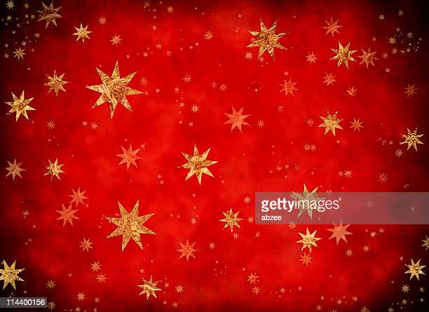 Starry Christmas background with golden stars part of a series