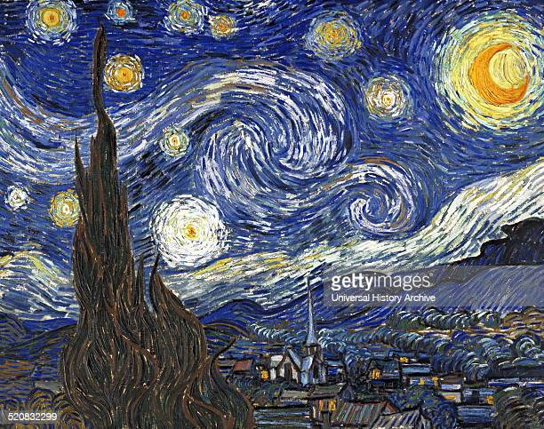 'Starry Night' by Vincent Van Gogh a postimpressionist painter of Dutch origin Dated 1889