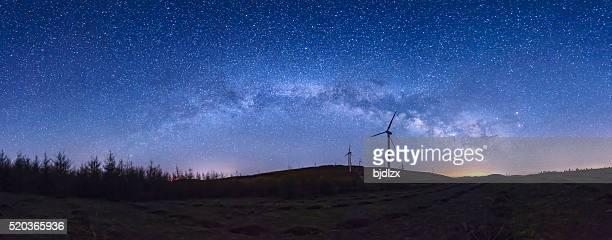 Noche estrellada paisaje