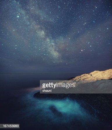 Starry Night on the Coast : Stock Photo