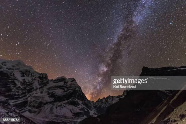 Starry night over Mera peak, Nepal