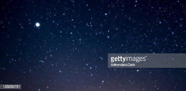 Starry Night Sky : Stock Photo
