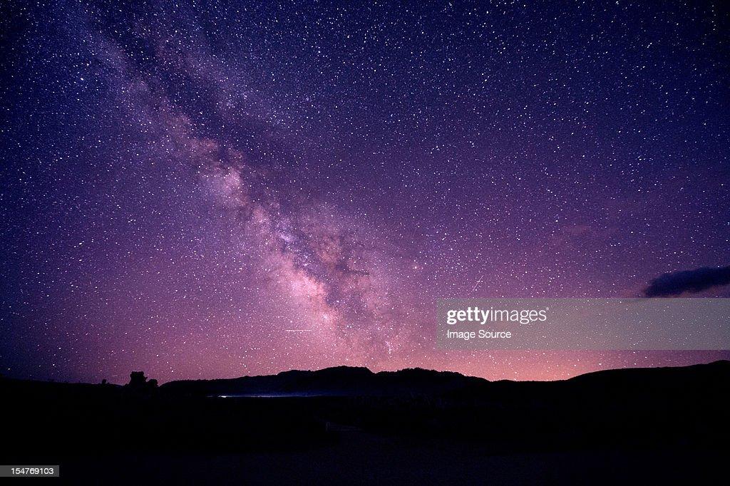 Starry sky at night, mono lake, california, usa : Foto stock