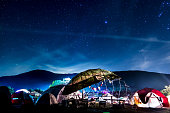 A starry sky at Serenity Gathering, A transformational festival in Southern California