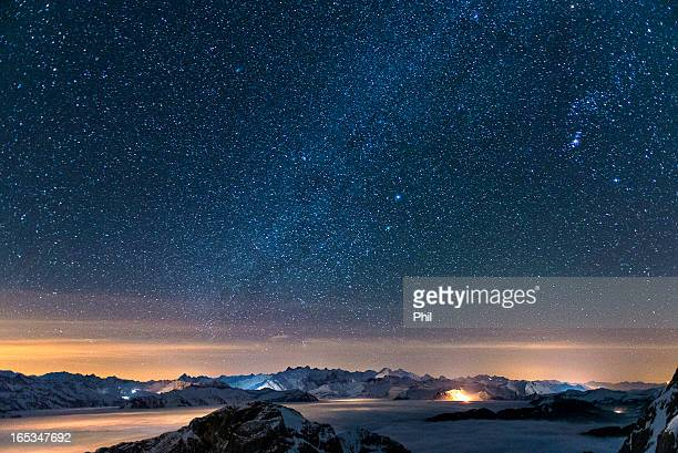 Starry sky on the Pilatus