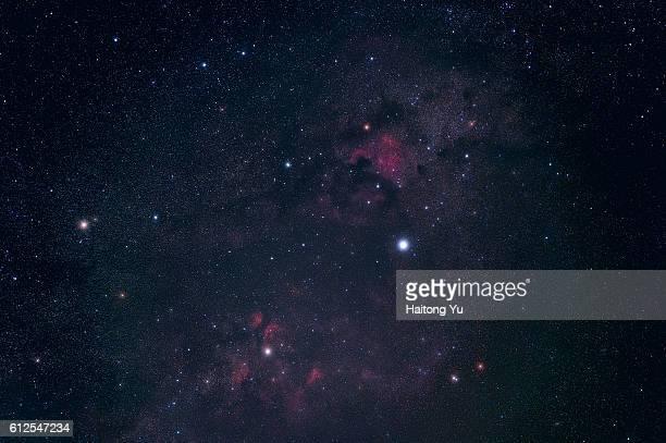 Stars and nebulae in the constellation Cygnus