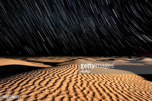 Stars and Sand - Night sky in the Sahara Desert