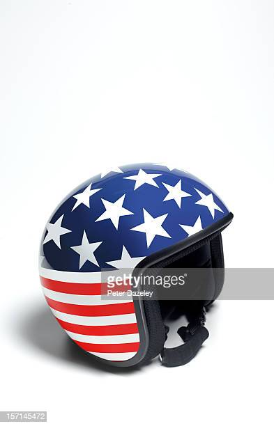 Stars and stripes crash helmet