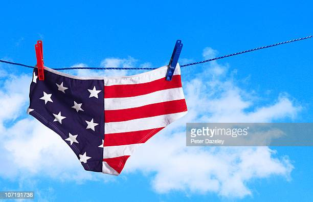 Stars and stripes knickers on washing line
