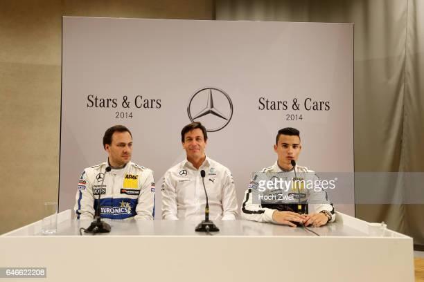 Stars Cars Stuttgart Pressekonferenz Gary Paffett Christian 'Toto' Wolff Pascal Wehrlein