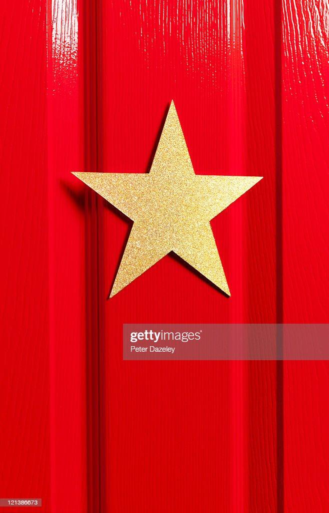 Star's dressing room door close up