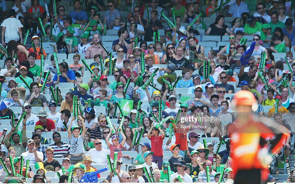 Stars fans in the crowd show their support during the Big Bash League match between the Melbourne Stars and the Perth Scorchers at Melbourne Cricket Ground on January 27, 2014 in Melbourne, Australia.
