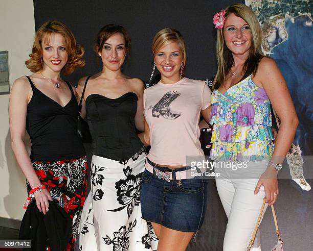 Stars from the hit German television series 'Gute Zeiten Schlechte Zeiten' including Maike von Bremen and Susan Sideropoulos attend the Bunte...