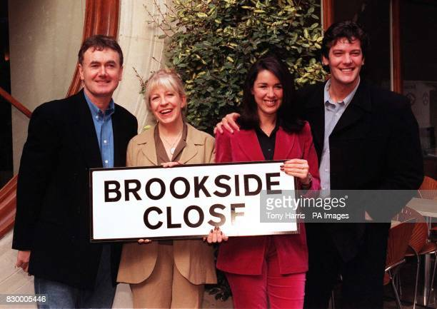 Stars from the past and present of Channel 4's Liverpudlian soap Brookside gather together in London today to promote the fivenight Easter special...