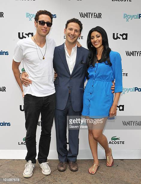 Stars from USA Network's 'Royal Pains' actors Paulo Costanzo Mark Feuerstein and Reshma Shetty attend the 'Royal Pains Summer Shirt Exchange'...