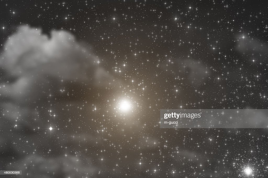 Stars in the Milky Way : Stock Photo