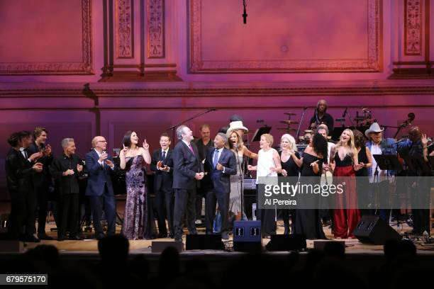 Stars join Jimmy Webb during 'City Winery Presents A Celebration of the Music of Jimmy Webb' at Carnegie Hall on May 3 2017 in New York City