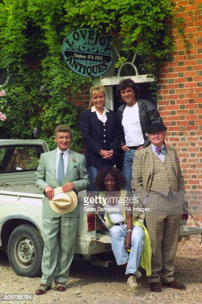 Stars of a new series of BBC TV's Lovejoy pose for the media during a photocall at Belchamp Hall Belchamp Walter north Sudbury Malcolm Tierney...
