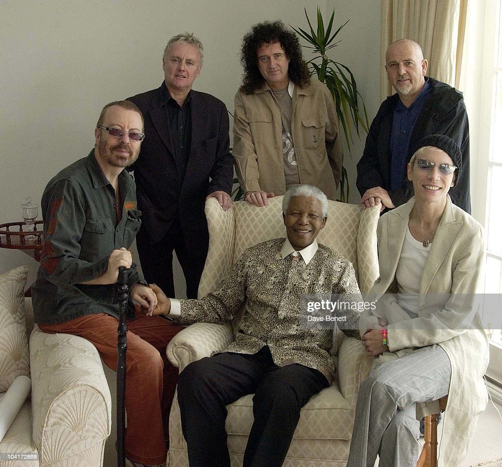 Stars Of Rock And Roll Join Forces For Nelson Mandela's 46664 Concert In Cape Town, South Africa. In The Pre, Concert Build Up, This Morning Dave Stewart,roger Taylor,brian May,peter Gabriel & Annie Lennox Met Former South African President And Prisoner 46664 Nelson Mandela At His Home In The Hills Above Cape Town, South Africa Gears Up For Aids Awareness Mandela Concert 46664. The Concert Is In Association With Mtv's Staying Alive & Www.46664.com Powered By Tiscali.