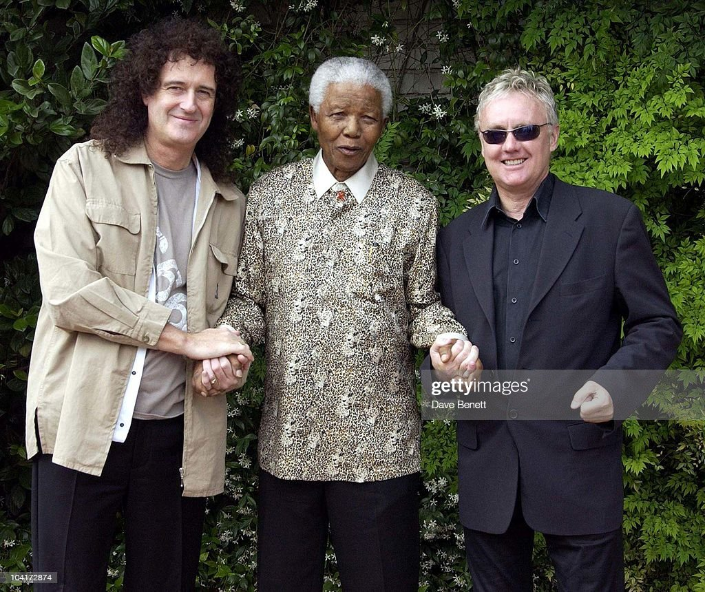 Stars Of Rock And Roll Join Forces For Nelson Mandela's 46664 Concert In Cape Town, South Africa. In The Pre, Concert Build Up This Morning Brian May And Roger Taylor Met Former South African President And Prisoner 46664 Nelson Mandela At His Home In The Hills Above Cape Town, South Africa Gears Up For Aids Awareness Mandela Concert 46664. The Concert Is In Association With Mtv's Staying Alive & Www.46664.com Powered By Tiscali.