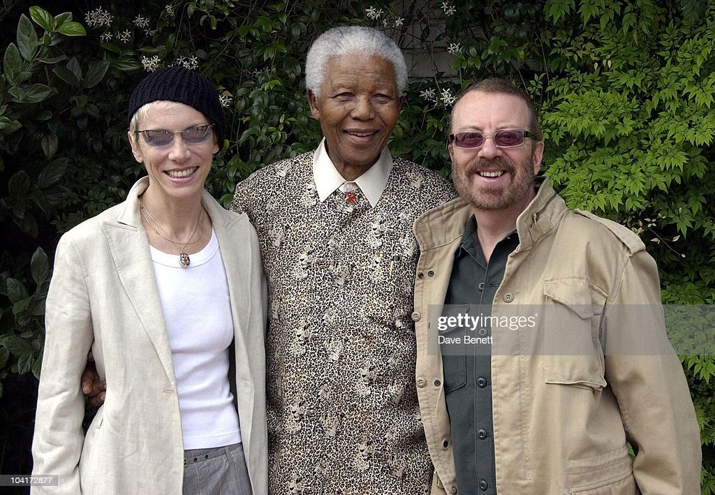 Stars Of Rock And Roll Join Forces For Nelson Mandela's 46664 Concert In Cape Town, South Africa. In The Pre, Concert Build Up This Morning Annie Lennox And Dave Stewart Met Former South African President And Prisoner 46664 Nelson Mandela At His Home In The Hills Above Cape Town, South Africa Gears Up For Aids Awareness Mandela Concert 46664. The Concert Is In Association With Mtv's Staying Alive & Www.46664.com Powered By Tiscali.