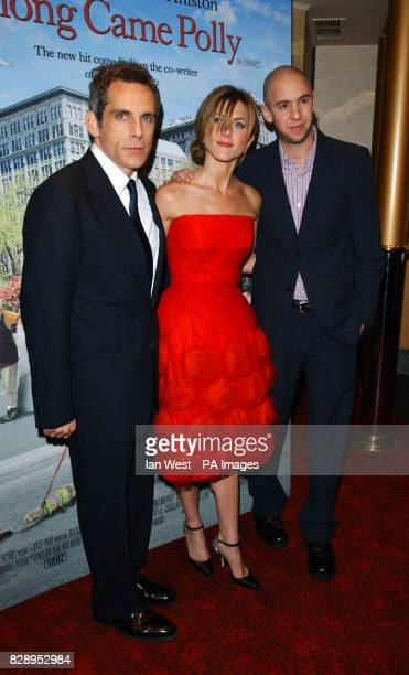 Stars of the film Ben Stiller and Jennifer Aniston with director John Hamburg during the UK charity premiere of Along Came Polly at the Empire...